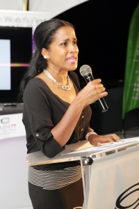 Delivering Remarks at the FilmTT Smartphone FIlm Festival Launch, FilmTT Chairperson, Camille Selvon Abrahams